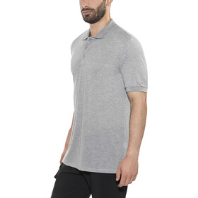 Bergans Valmue Piquè Shirt Men Grey Melange
